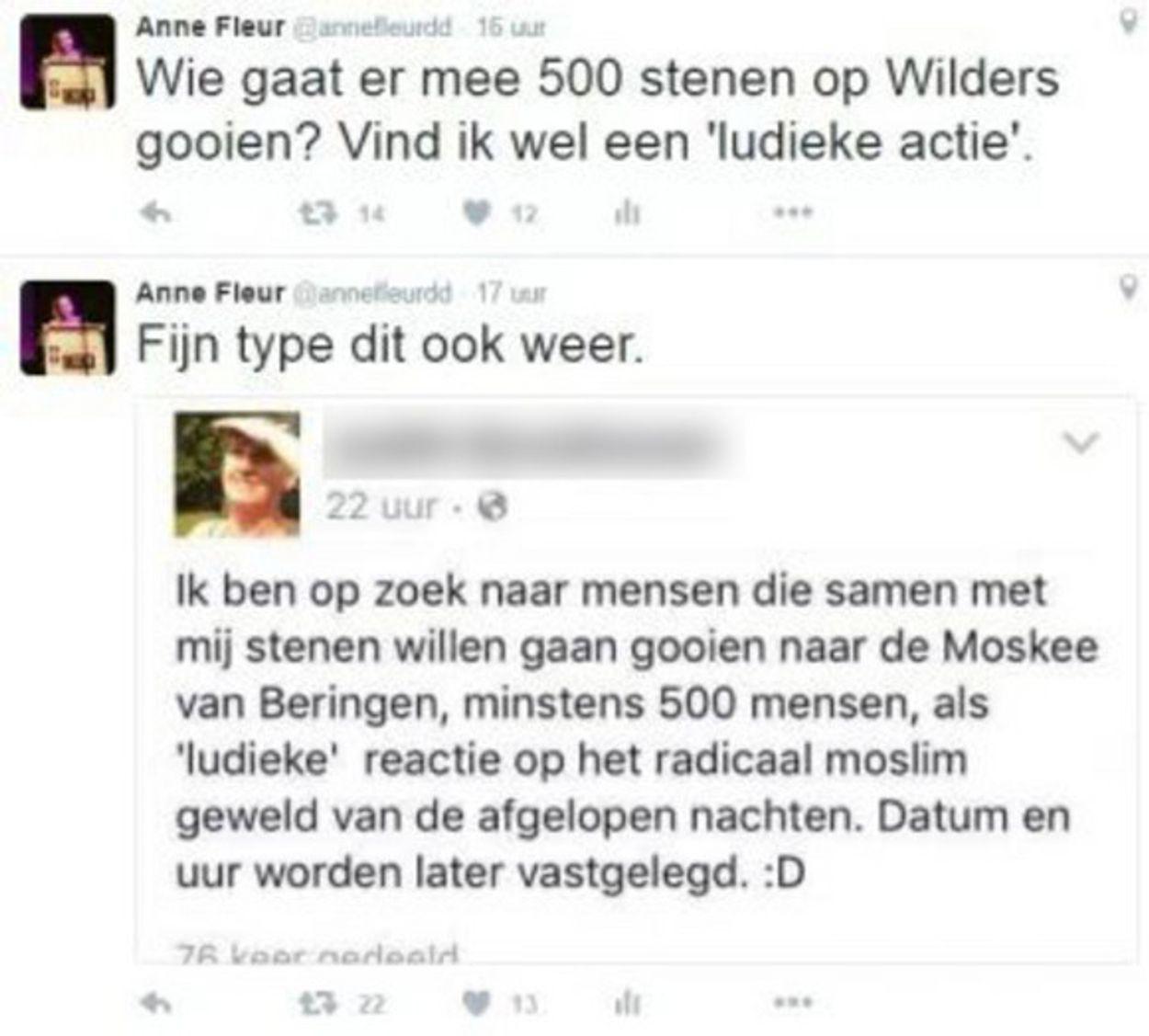 Tweet Anne Fleur Dekker