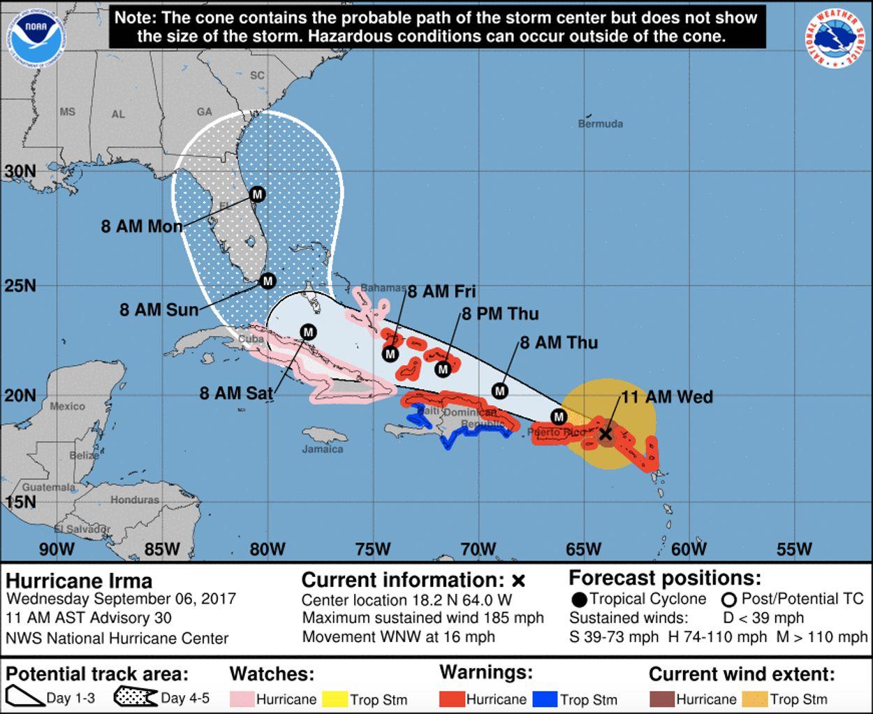 voorspelling Amerikaans orkaancentrum