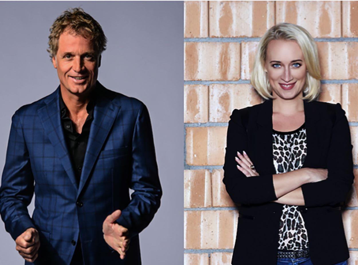 Afbeelding van Jeroen Pauw en Eva Jinek presenteren gezamenlijke talkshow