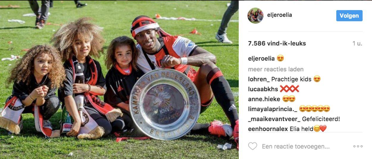 Eljero Elia en zijn kids