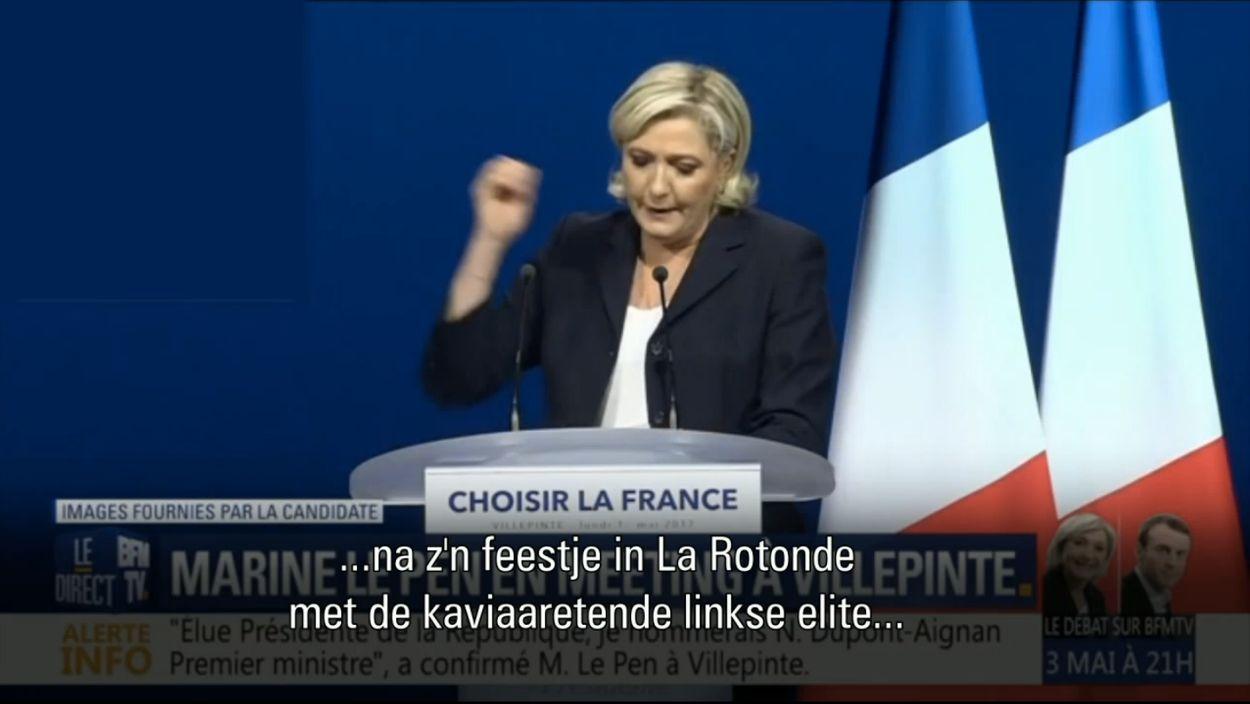 Quote Le Pen over Macron