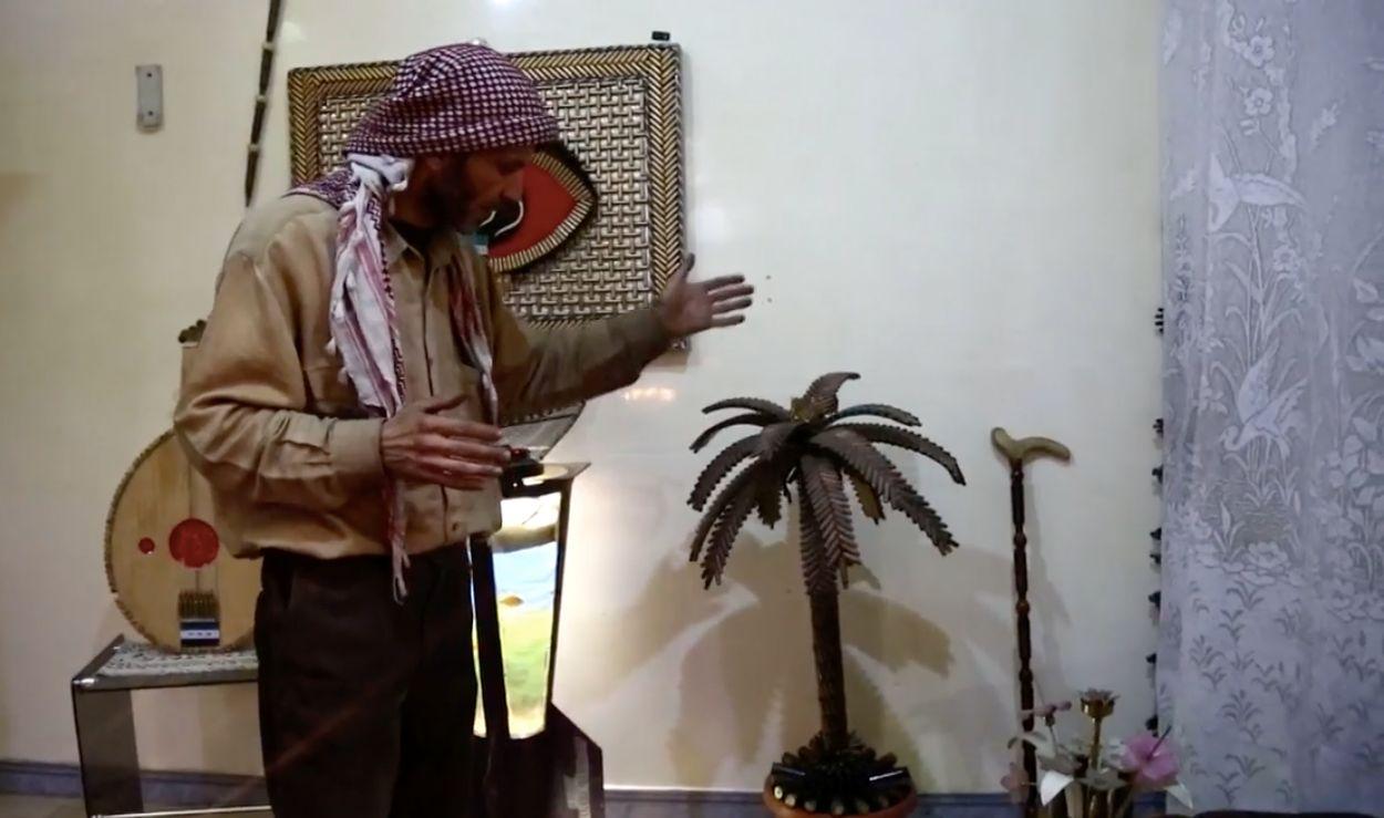Afbeelding van Deze Syriër maakt kunst van gebruikt wapentuig