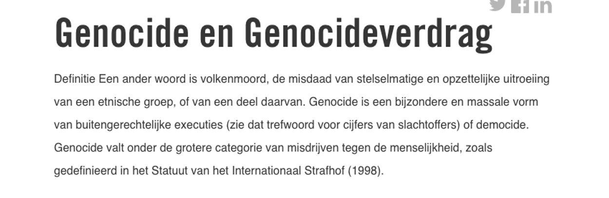 Definitie volkerenmoord Amnesty