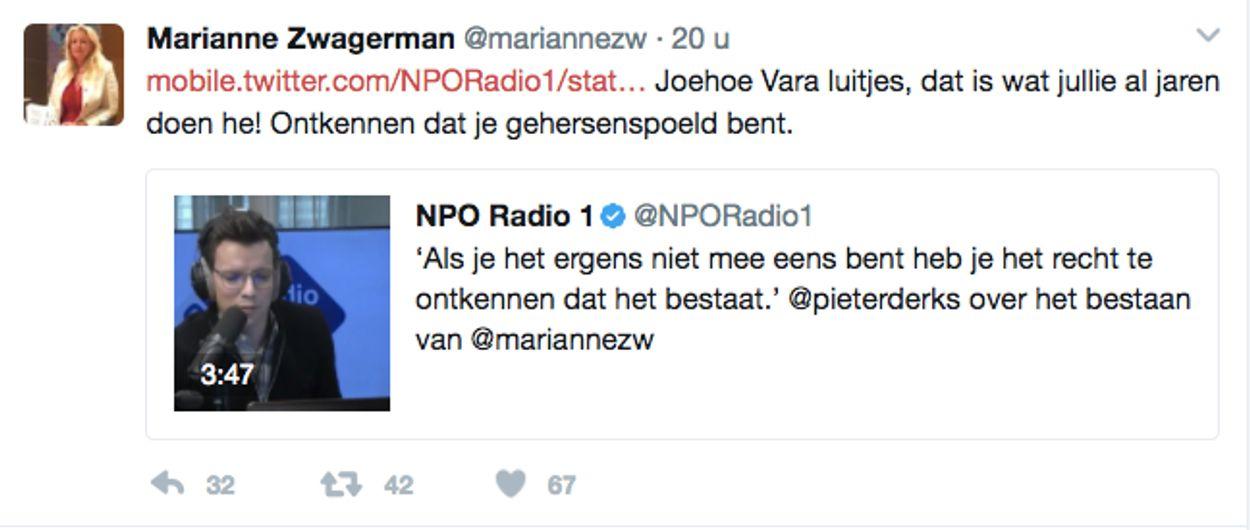 Tweet Zwagerman vs Derks