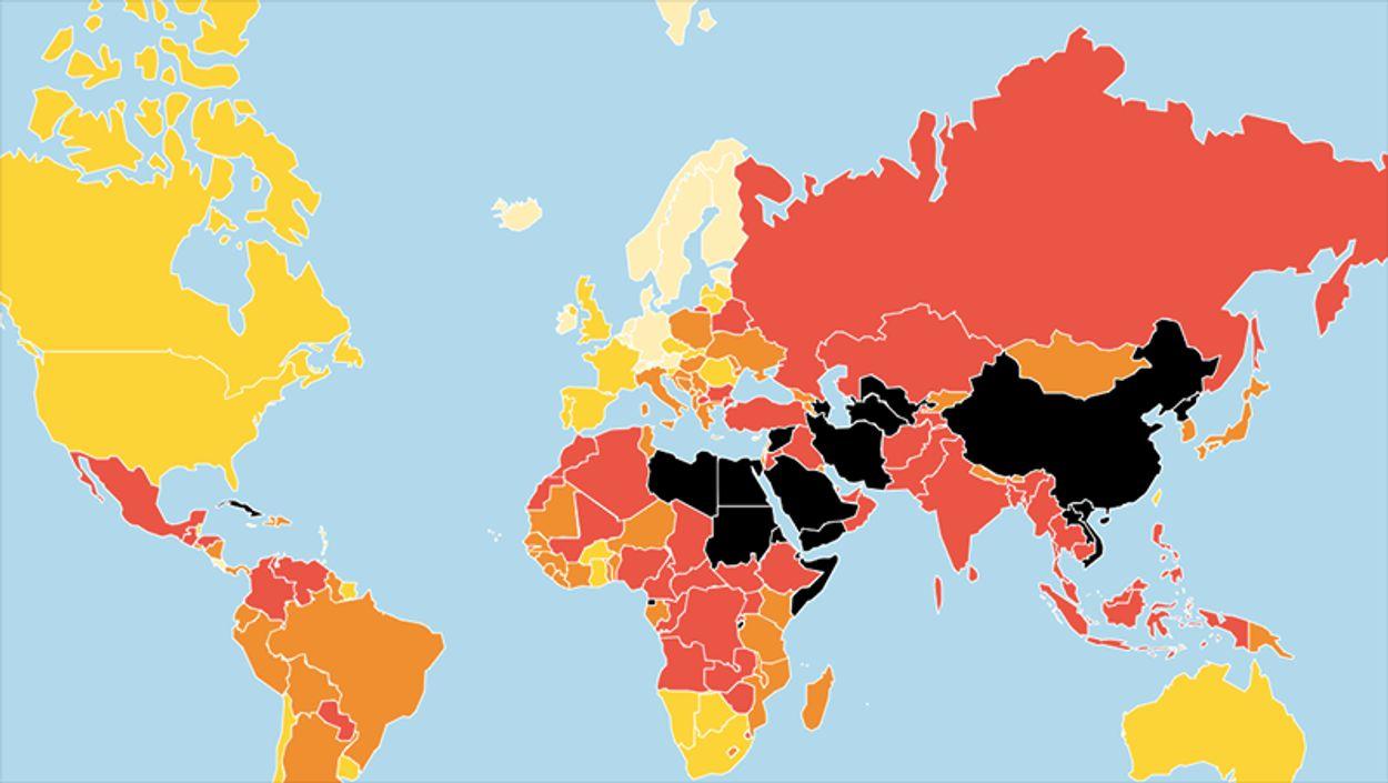 Afbeelding van Van Noorwegen tot Noord-Korea: in deze landen wil je (geen) journalist zijn
