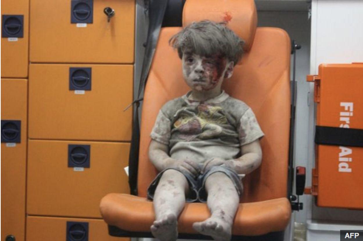 Afbeelding van Vader Syrische Omran: 'mijn zoon is misbruikt voor propaganda'