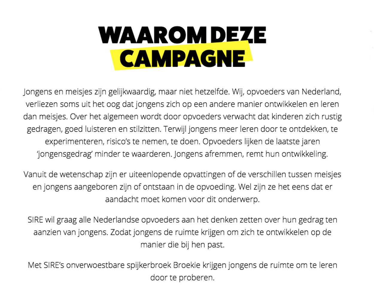 Sire: waarom de campagne?
