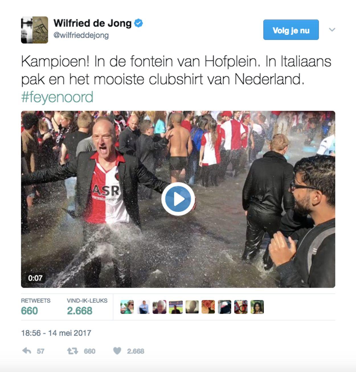 Wilfried de Jong in hofvijver