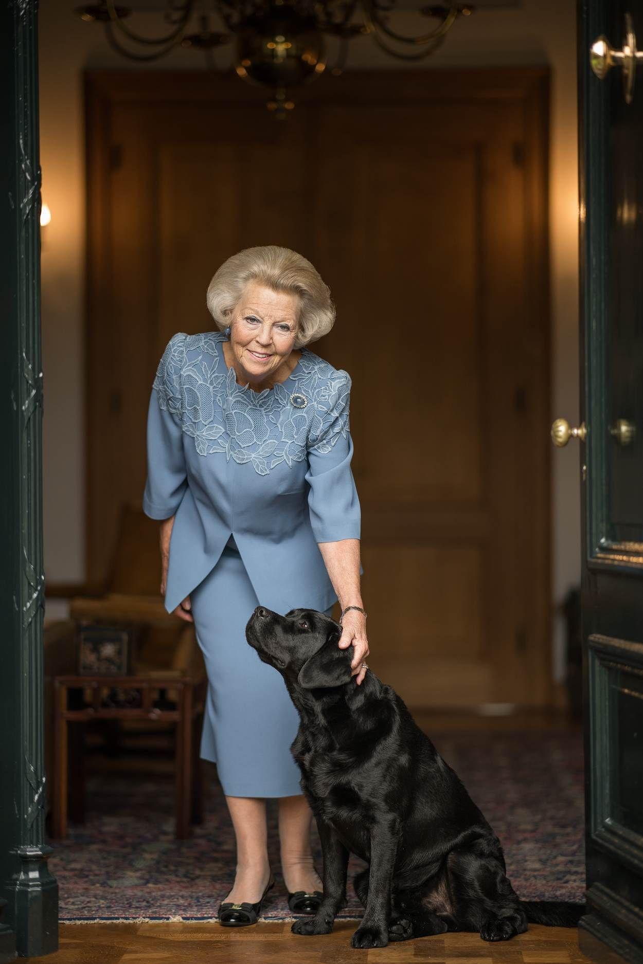 Beatrix met hond