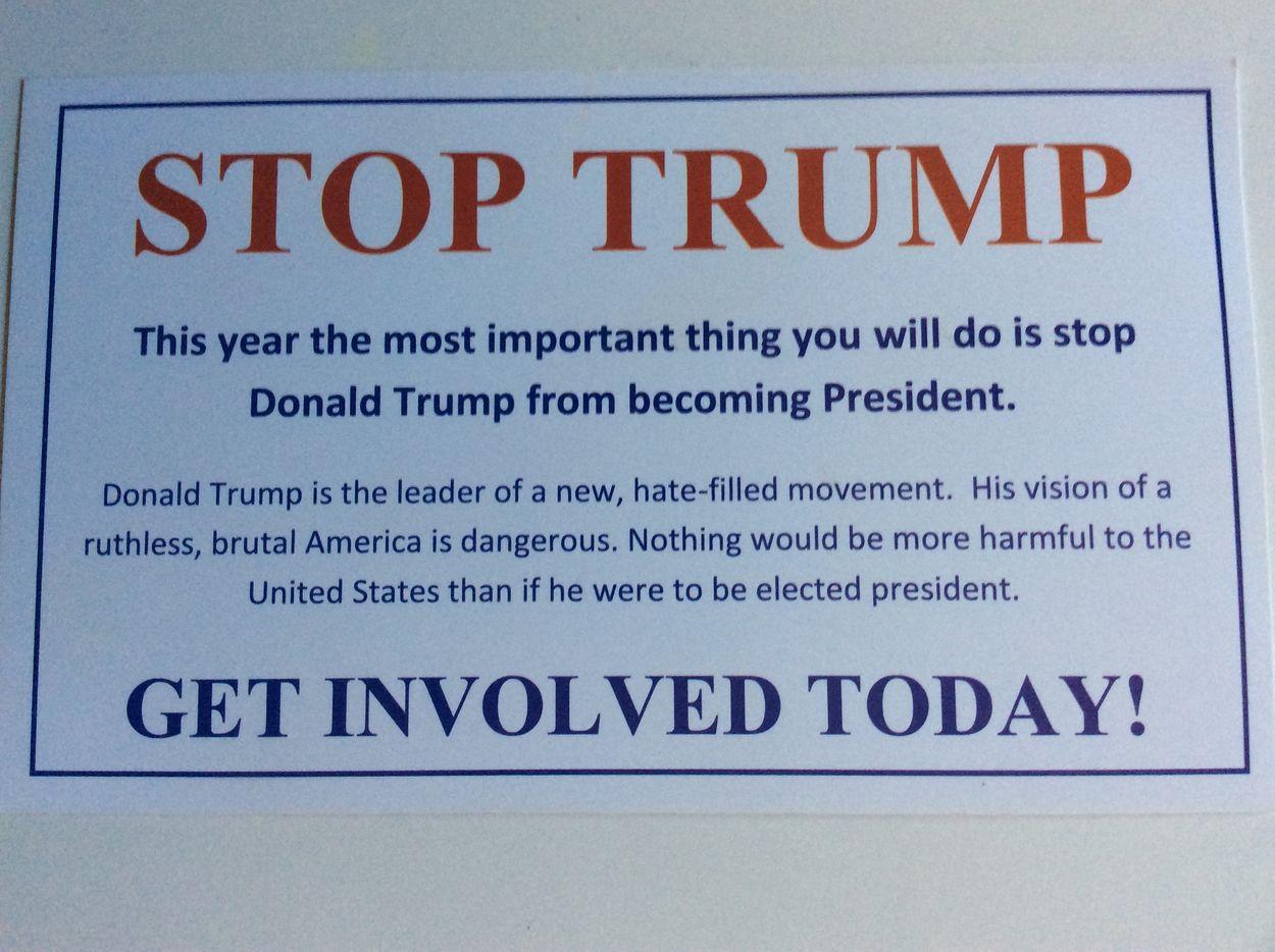 """Afbeelding van Bloggers over Amerika Kiest: """"Stop Trump"""""""